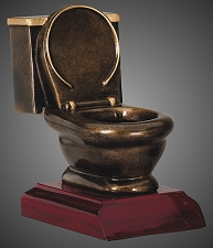 Toilet Resin Last Place Trophy - 5