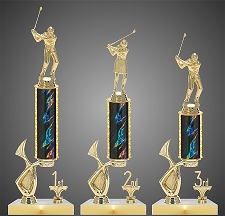 Golf Tournament Trophy with Offset Riser- Starting at $10.50
