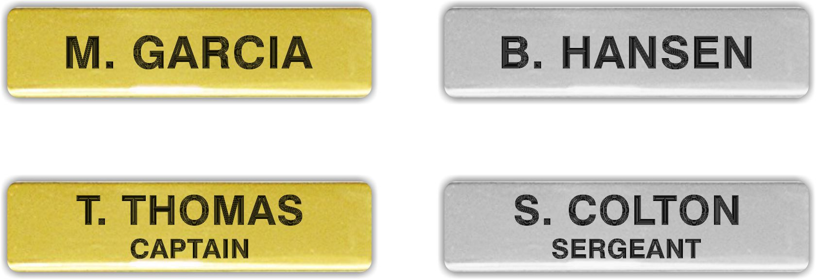 Name Badges for Law Enforcement & Fire/EMS