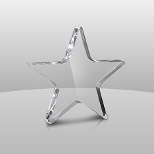Clear Star Award (no base) - 3 Sizes - $27 - $40 - $49