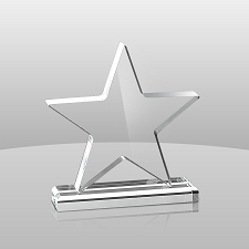 Clear Star Award - 3 Sizes - $37 - $50 - $60