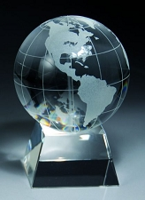 Crystal Globe Award - 3 Sizes - $41 - $47 - $75