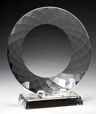 Crystal Plate Award with Crystal Stand - 3 Sizes