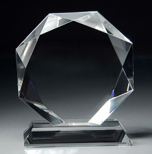 Crystal Octagon Award - 2 Sizes