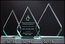 Diamond Series Glass Award - 3 Sizes
