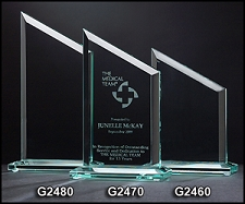Zenith Series Glass Award - 3 Sizes