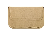 Light Brown Leatherette Soft Business Card Holder