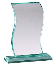 Wave Series Glass Award - 3 Sizes
