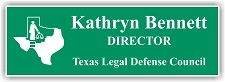 Light Green/White 2-Color Laser Engraved Plastic Name Badge with Logo