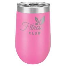 Personalized 16-oz Polar Camel Wine Tumbler - Pink