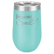 Personalized 16-oz Polar Camel Wine Tumbler - Teal