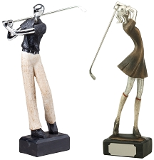 Modern Golf Resin Trophy, 12.5