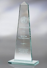 Glass Obelisk Award - 3 Sizes