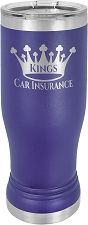 Personalized 14-oz Polar Camel Pilsner - Purple