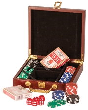 Rosewood Finish Poker Set (small)