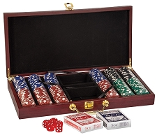 Rosewood Finish Poker Set (Large)