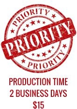 Priority Service - 2 Business Days Production Time