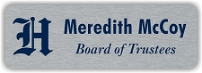 Silver Multi-Color Metal Name Badge with Logo