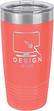 Personalized 20-oz Polar Camel Tumbler - Coral