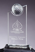 Crystal Peak Golf Award - $107 - $115 - $130 (Includes Engraving)