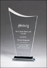 Clear Contemporary Glass Award - 3 Sizes