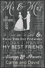 Mr. & Mrs. Wedding Sign
