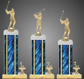 Golf Tournament Trophy with Rectangular Columns - Starting at $14