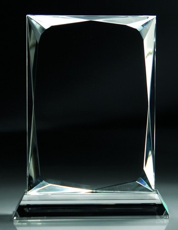Faceted Crystal Upright Award - 3 Sizes