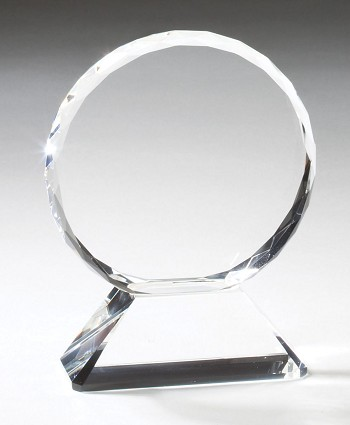Multi-Faceted Edged Crystal Award - 3 Sizes