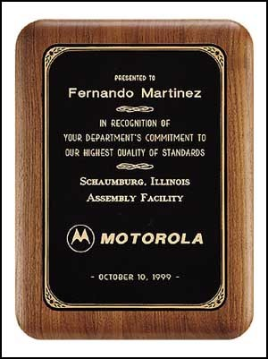 Solid American Elliptical Edge Walnut Plaque - 6 Sizes
