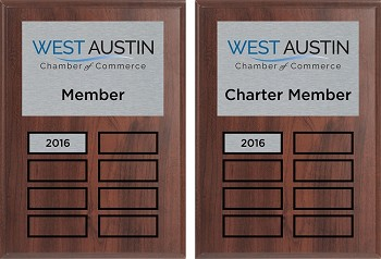 West Austin Chamber of Commerce 5x7 Plaque