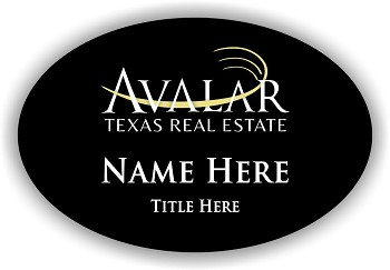 Avalar Black Oval Name Badge