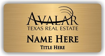 Avalar Gold Name Badge