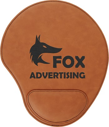 Rawhide/Black Leatherette Mouse Pad