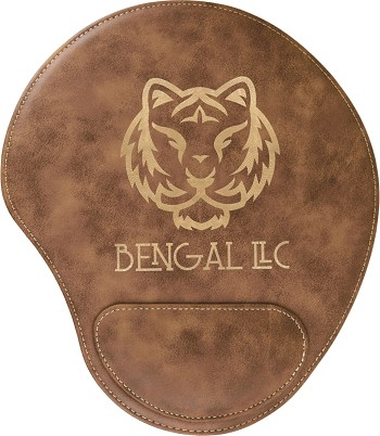 Rustic/Gold Leatherette Mouse Pad