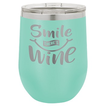 Personalized 12-oz Polar Camel Wine Tumbler - Teal