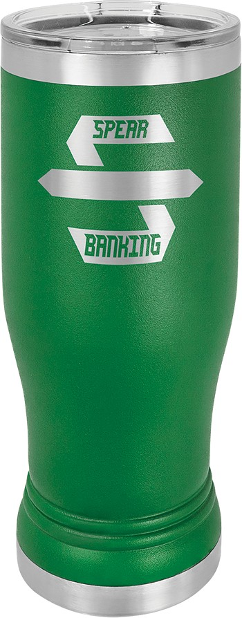 Personalized 14-oz Polar Camel Pilsner - Green
